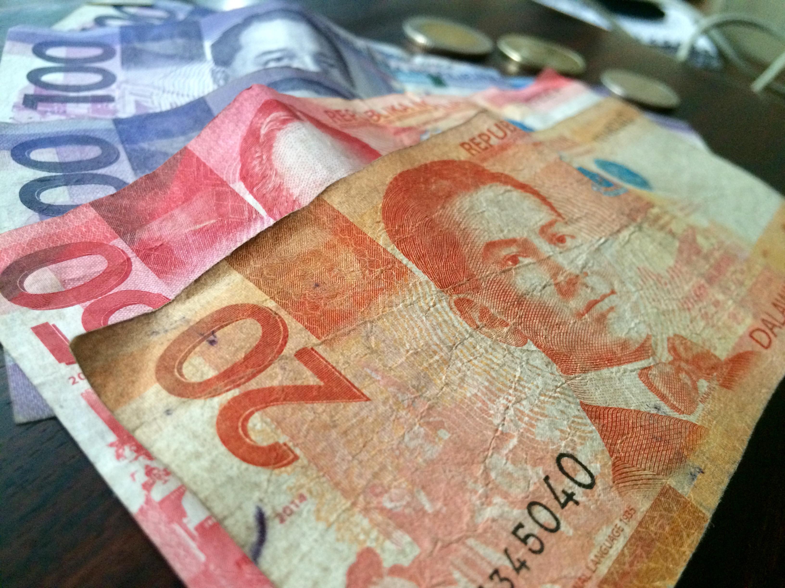 フィリピン・ペソ・紙幣・VISA・生活費