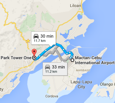 Mactan Cebu International Airport to Park Tower One  Mandaue City  Cebu   Google Maps