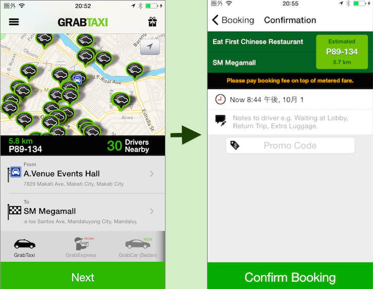 GRAB TAXI HOW TO USE