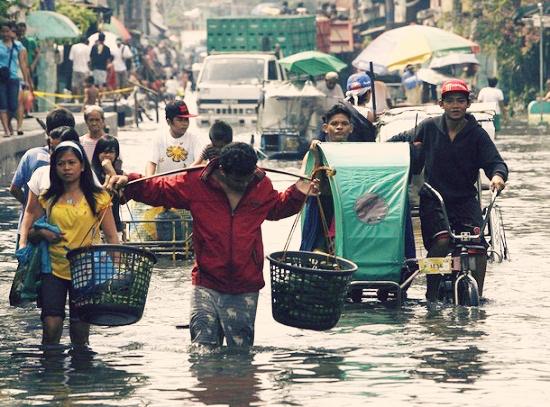 洪水・フィリピン・気候・移住・永住