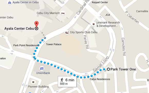 Park Tower One  Mandaue City  Cebu to Ayala Center Cebu   Google Maps