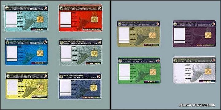 フィリピン・移民局・ACR-Iカード